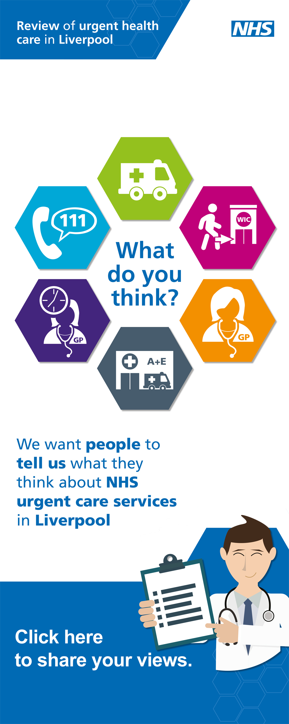 Click here to share your views on NHS Liverpool urgent and same day care services